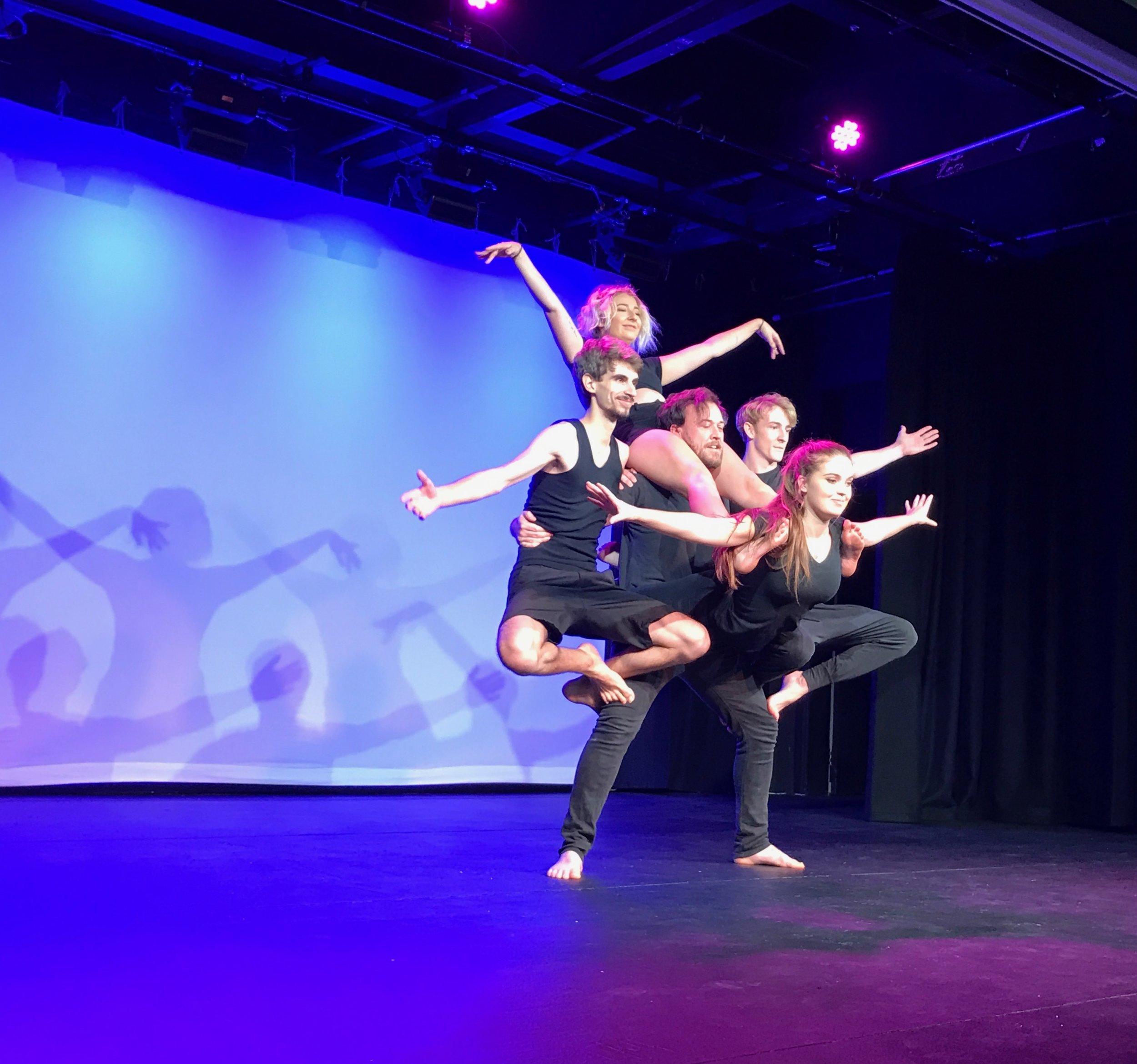 Students from Charles Sturt University's innovative Theatre Media program