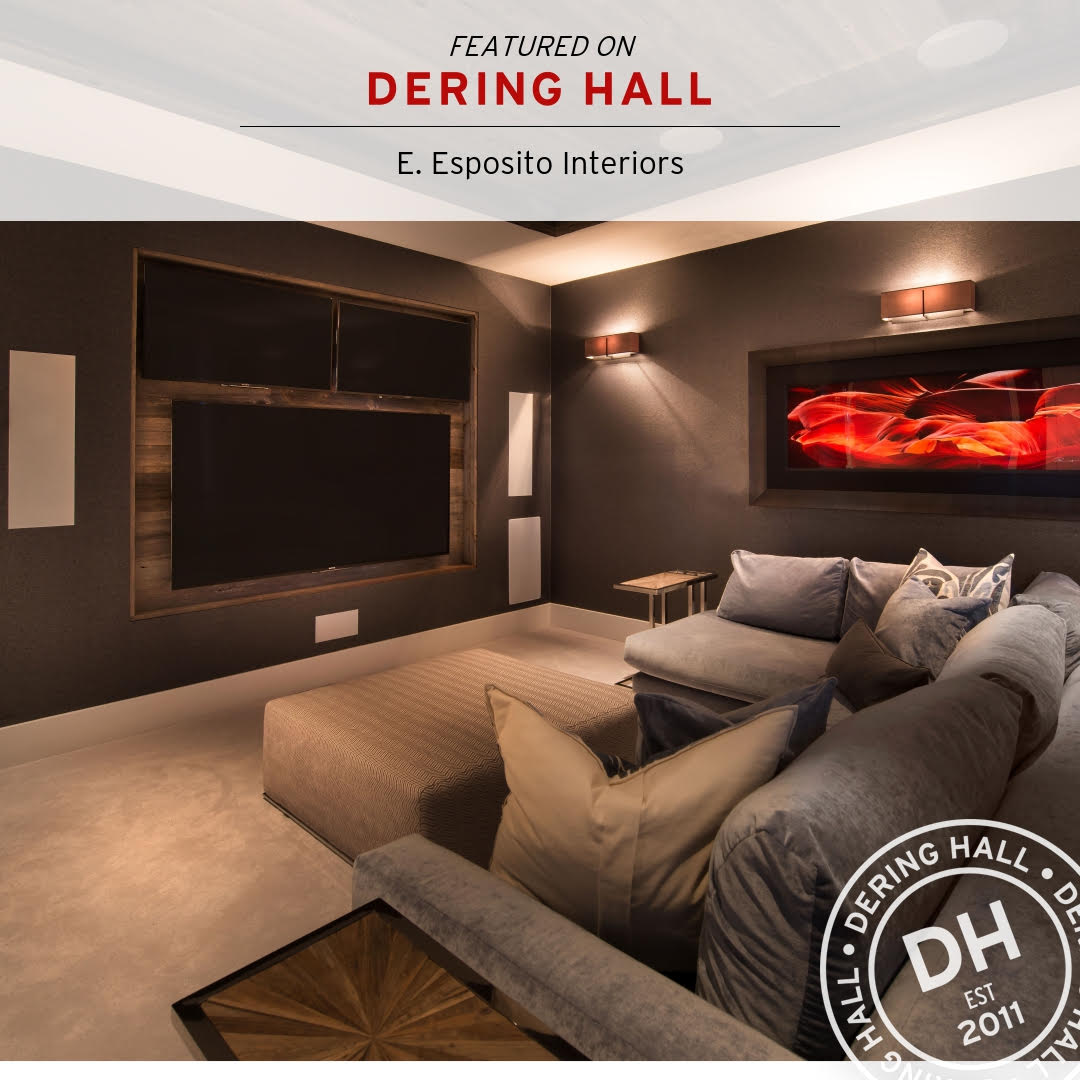 Dering Hall - Featured in Tips for Creating a Sophisticated Media Room.