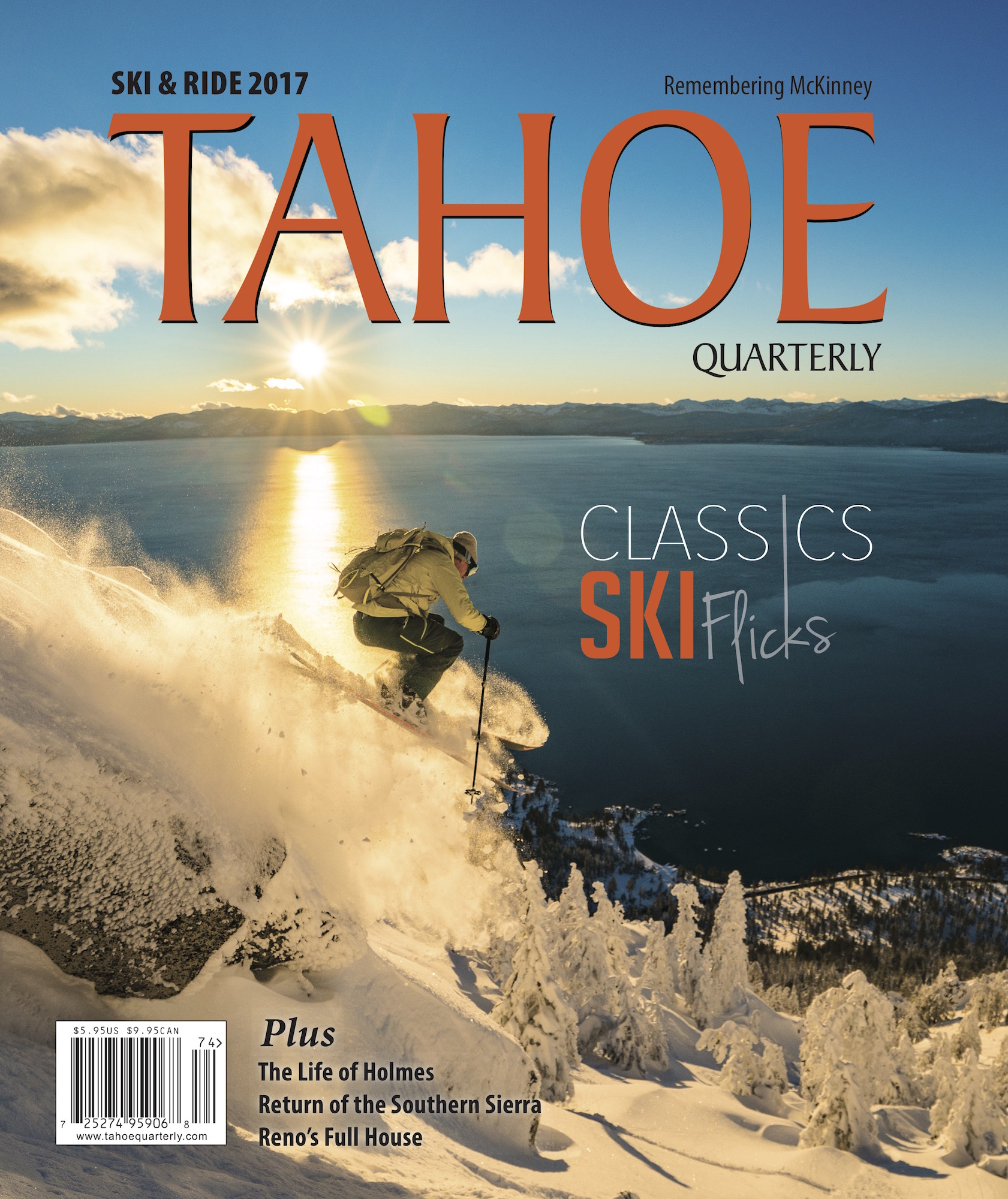 TAHOE QUARTERLY - Tahoe Quarterly Magazine's Ski and Ride 2017 issue, Ahead of the Curve, features this stunning mountain modern home designed by Kelly and Stone Architects with interiors by Emily Esposito.