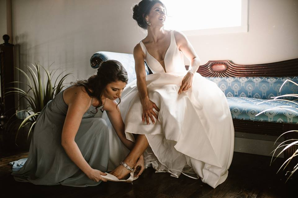 Here I am being a true peasant on Brenna's wedding day! Make it all about her!