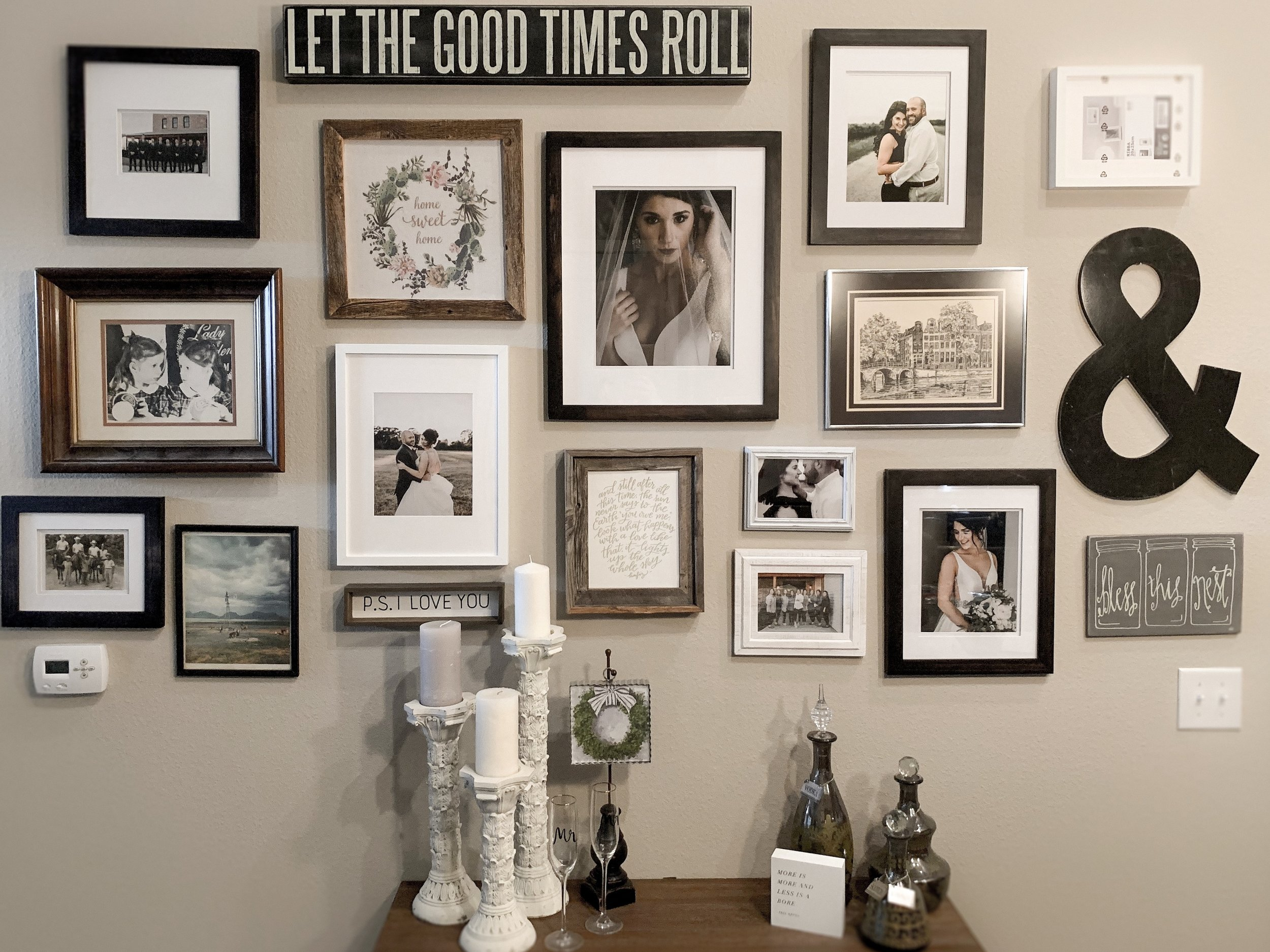 Brenna's gallery wall is all about her and JT and their lives together now!
