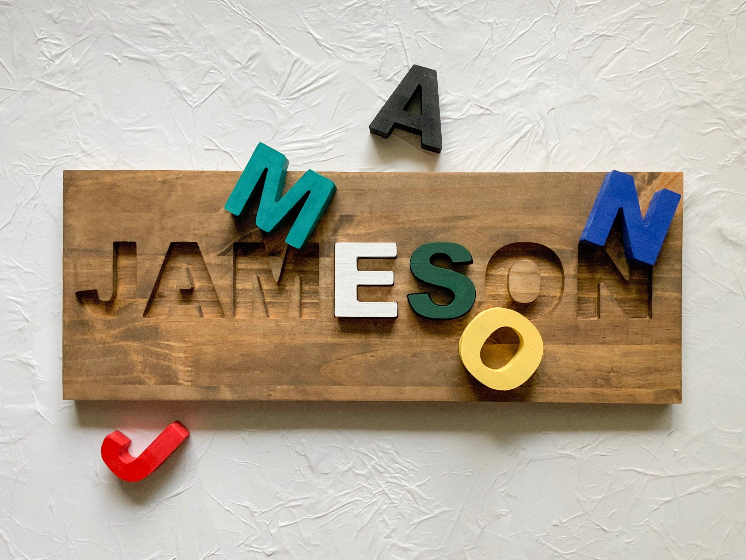 ramble and rove - name puzzle - baby shower gift - local pines collaborative - local pines finds
