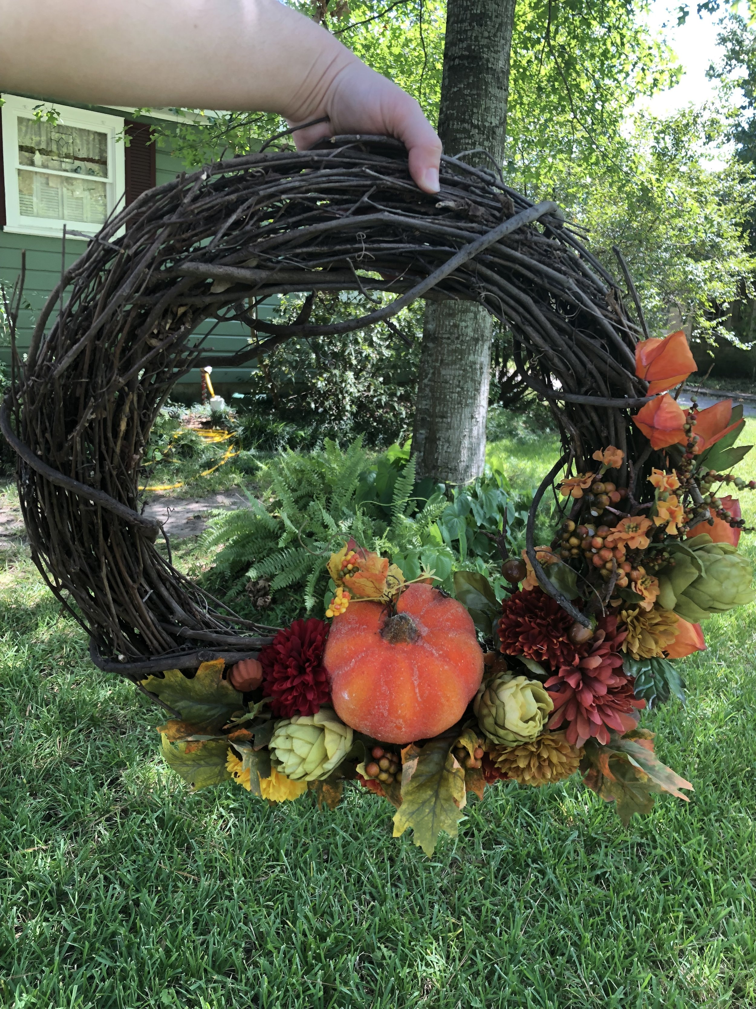 Kenzie and I made this bomb ass wreath.