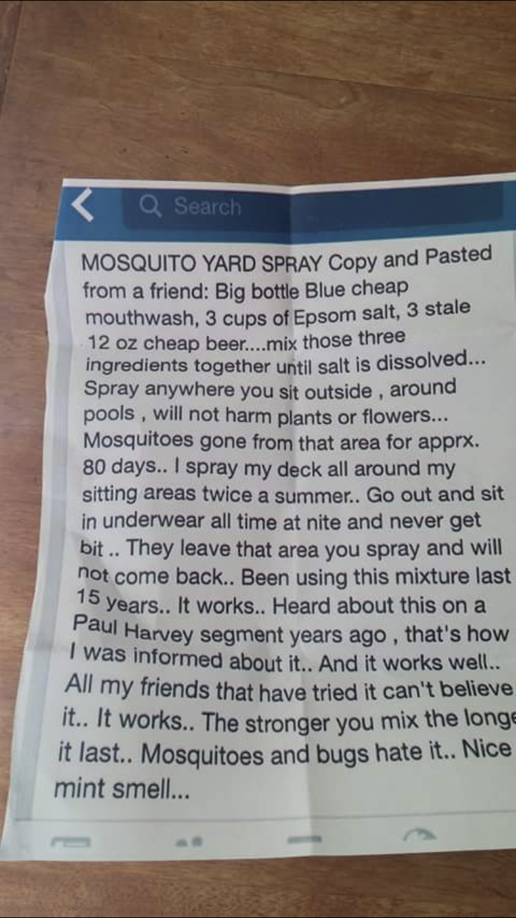 Most of my photos are things I see that I want to remember. Like this mosquito repellant.