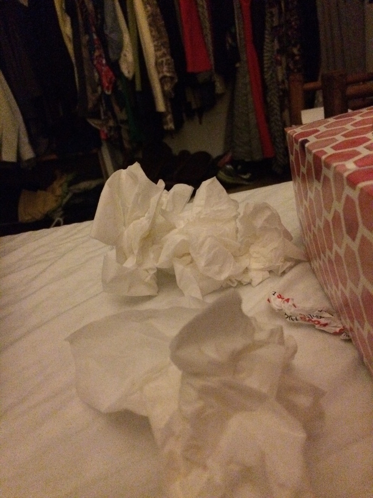 You thought I wouldn't show you the tissues? This was on a good night.
