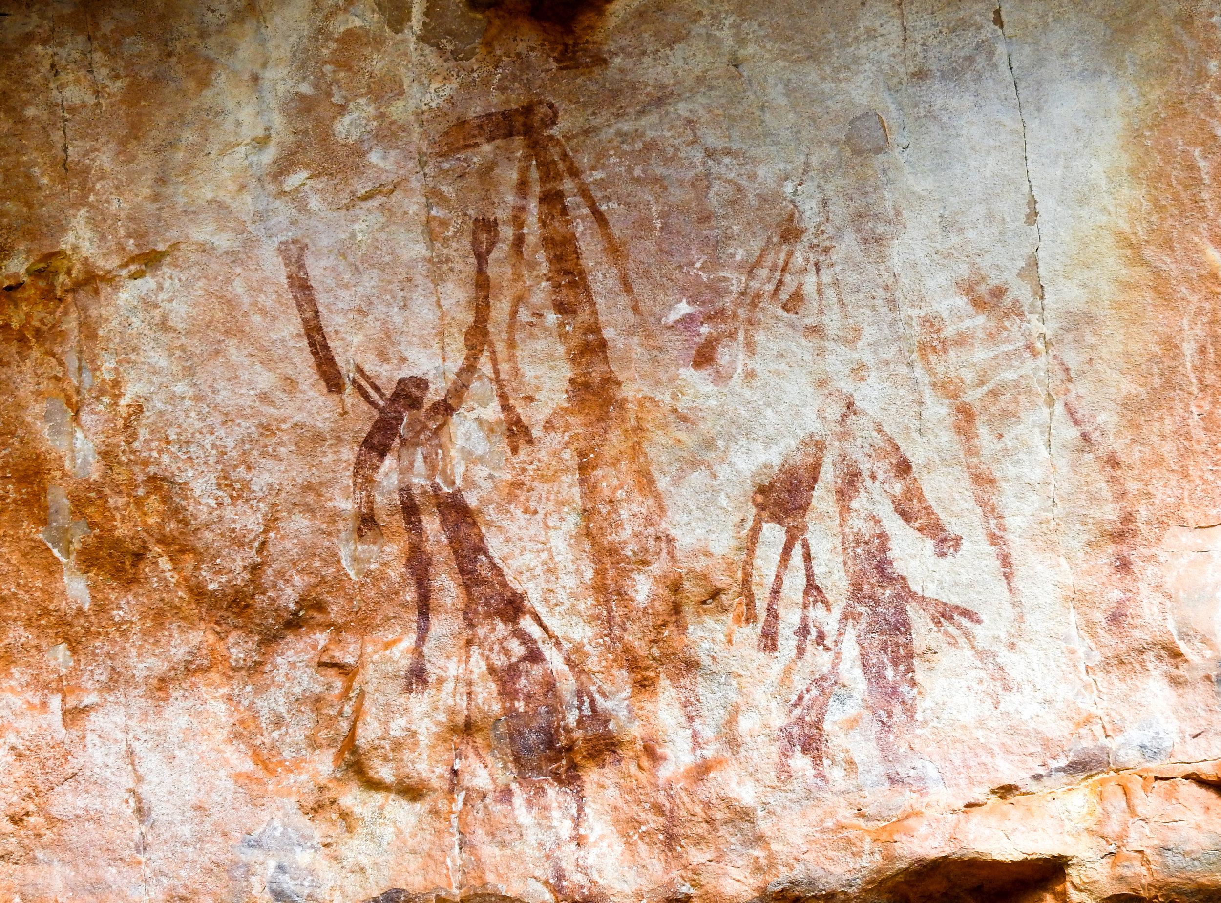 Bradshaw rock art painting at Manning Gorge