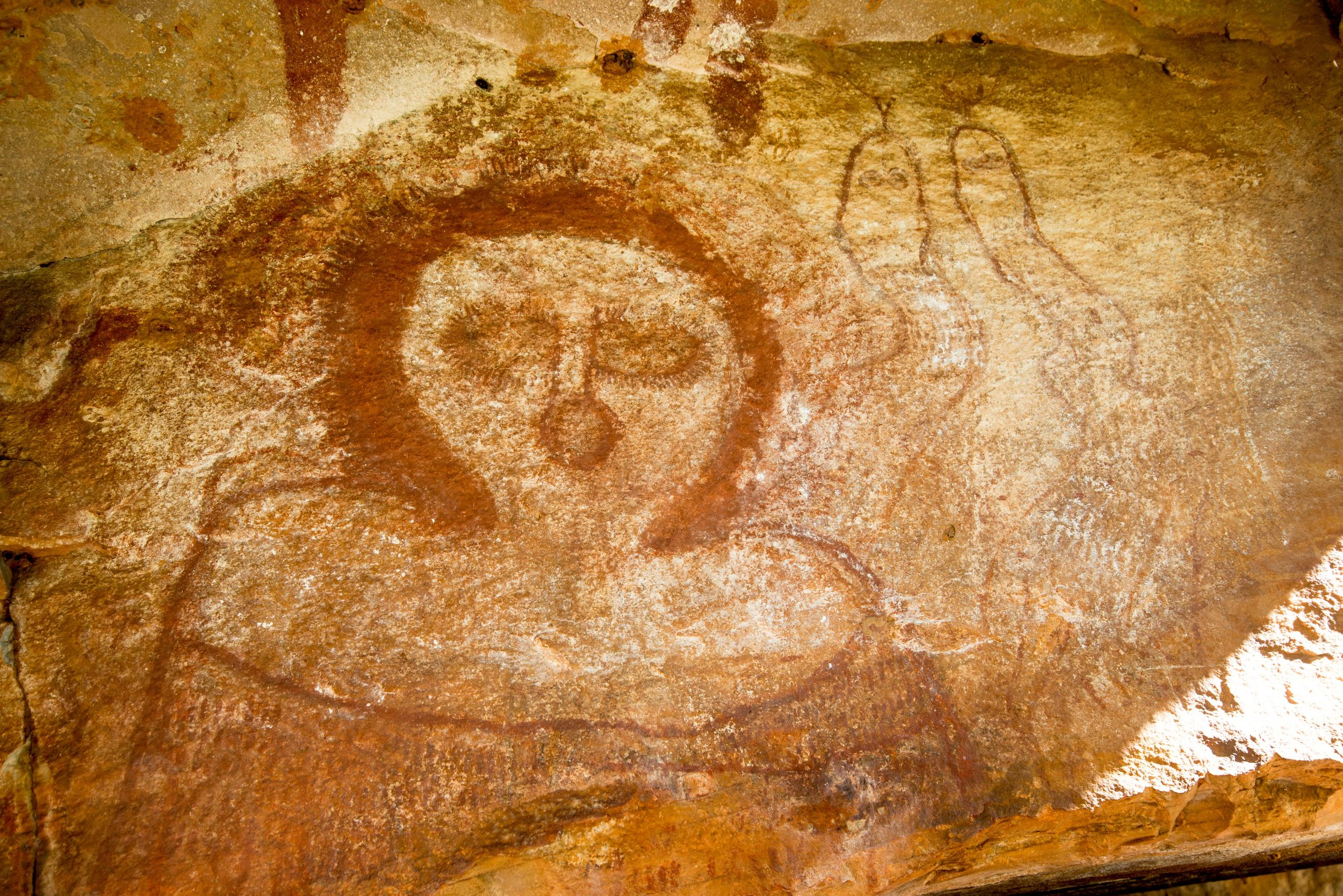 Wandjina rock art in the Kimberley