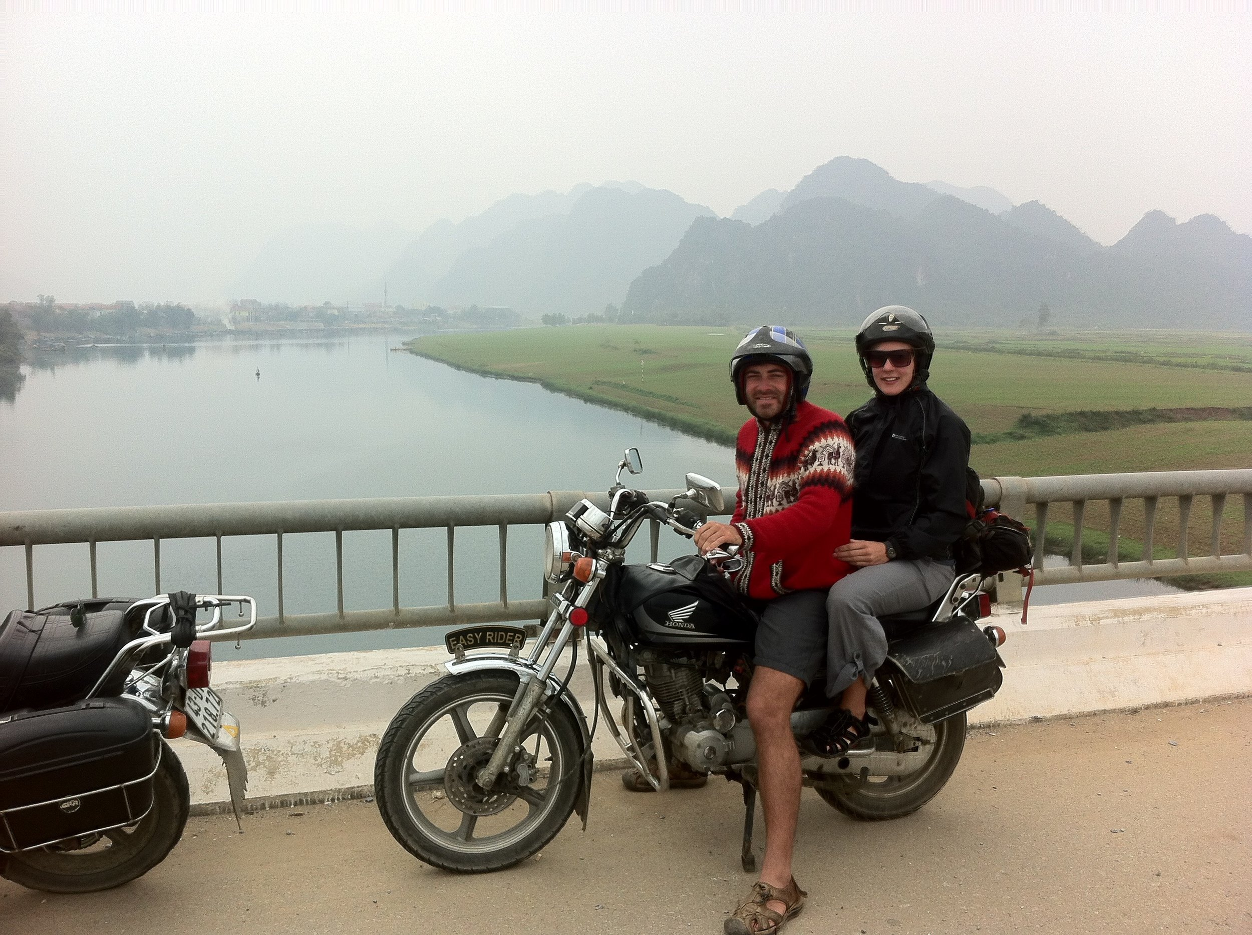 Adam & I on one of our many adventures... this time in Vietnam.