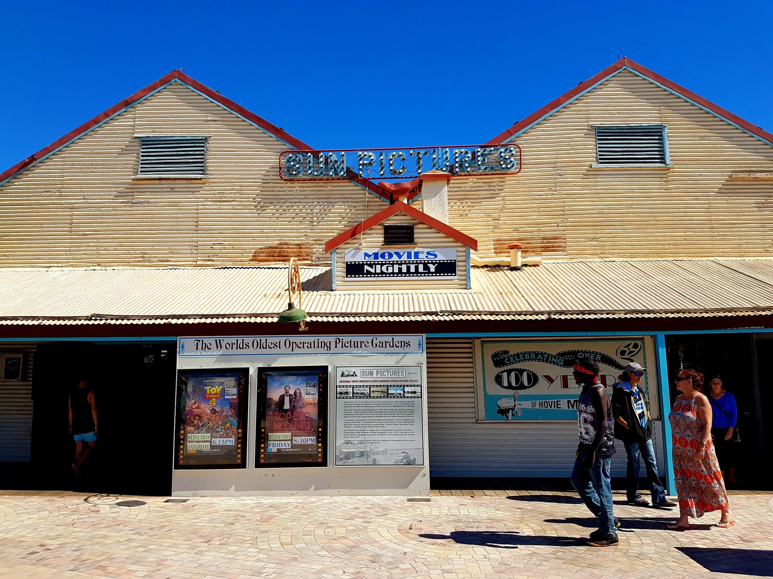 Broome's historic outdoor cinema is popular with tourists