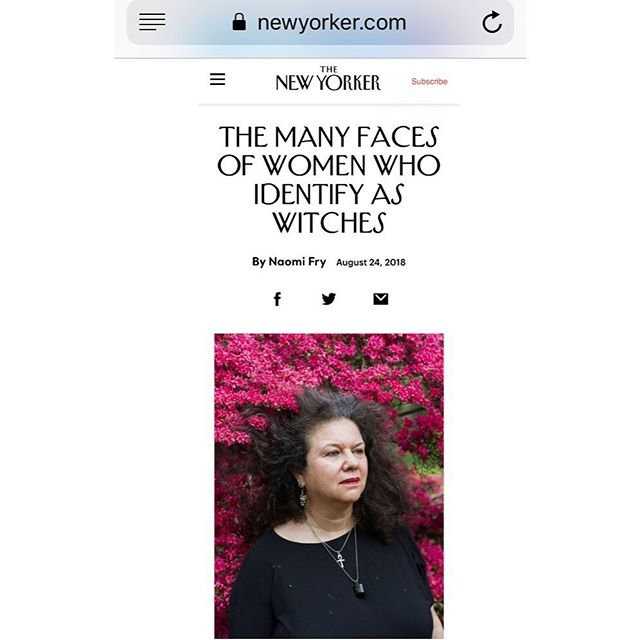 A dope profile/exhibition. @newyorkermag  @clampartnyc #women #womenempowerment #mysticalwomen #wicca #wiccan #majorarcanawitchesinamerica #francesfdenny #femalesacrossamerica #witches #seasonofthewitch #fullmoonapproaching  #witchesofinstagram #herbalmedicine #herbalremedies #artnyc #artexhibition