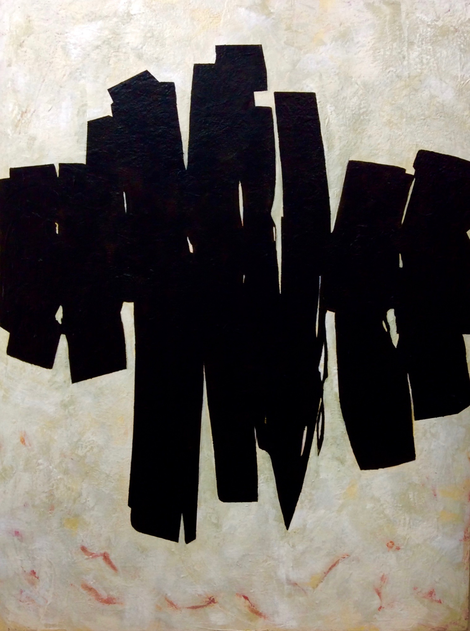 No. 9 %22Stance%22 48%22X36%22 2019 Acrylic, Charcoal on Canvas.  $2500. .jpg