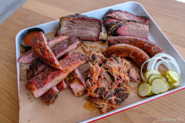 Brisket, sausage, pork ribs, beef ribs, pulled pork - Photo courtesy of  The Smoking Ho