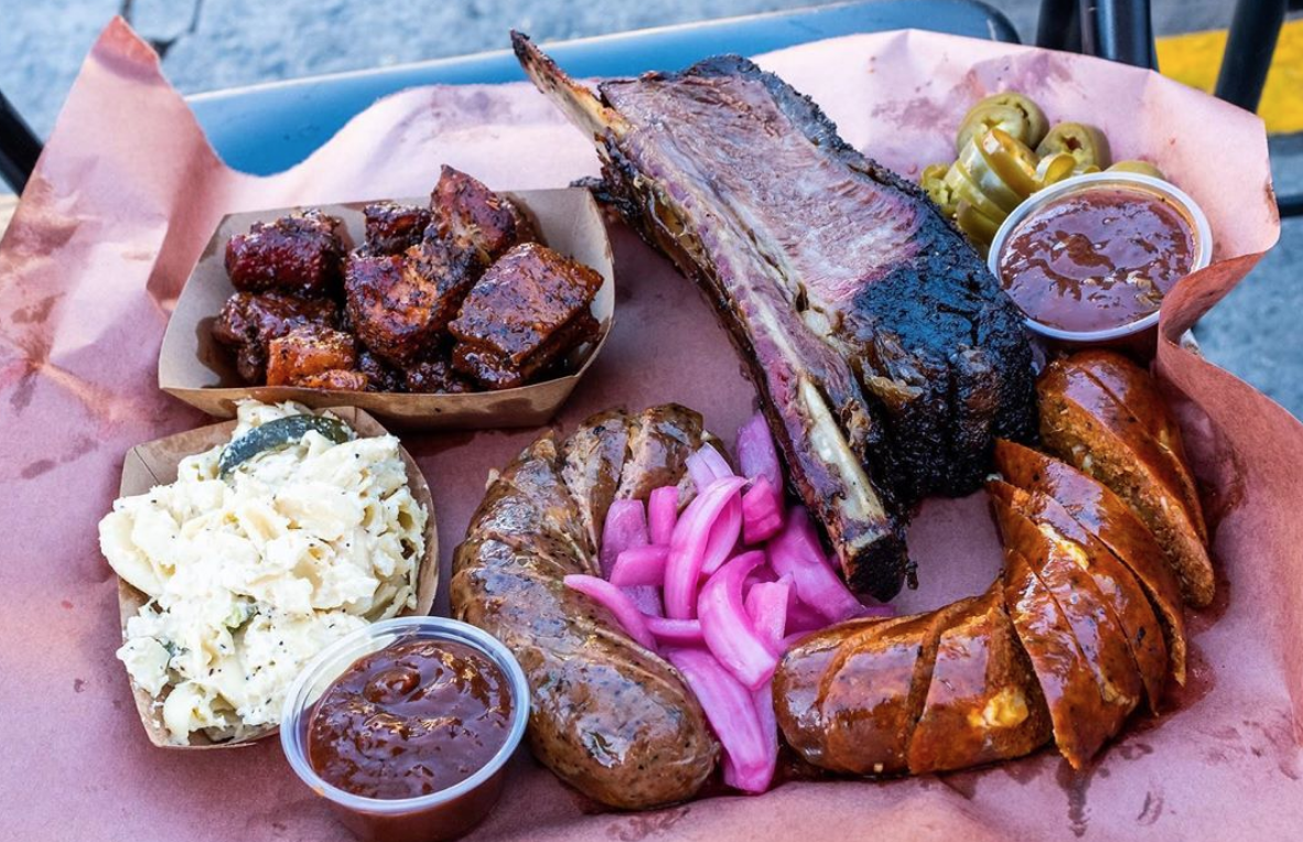 Platter from   A's BBQ