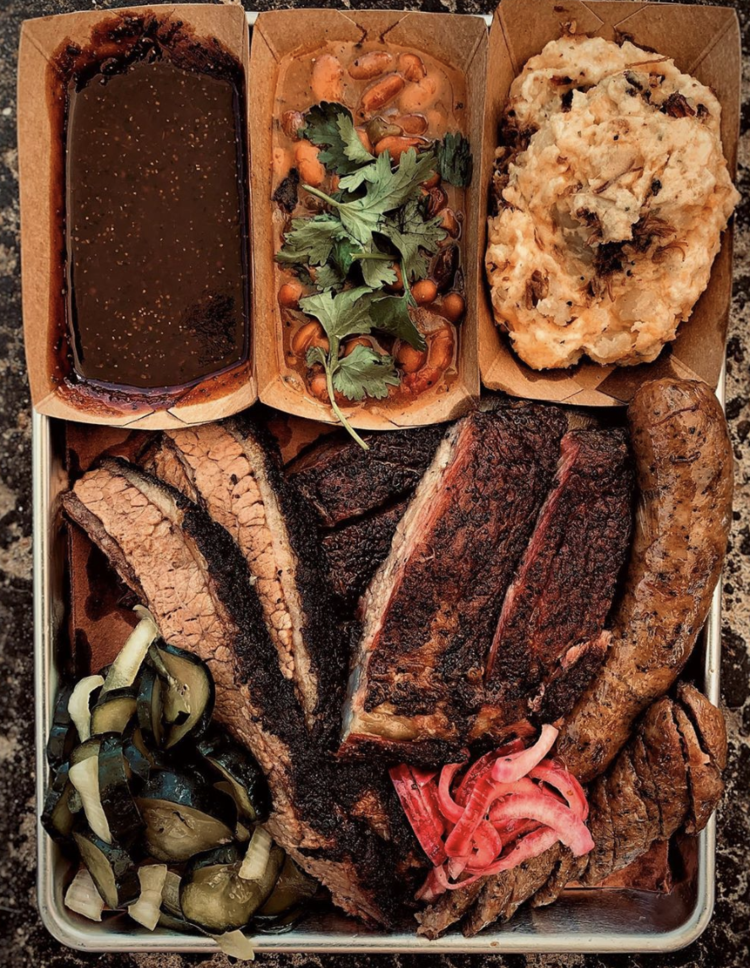 Platter from   Hill Barbecue  (Previously known as Embers Barbecue)