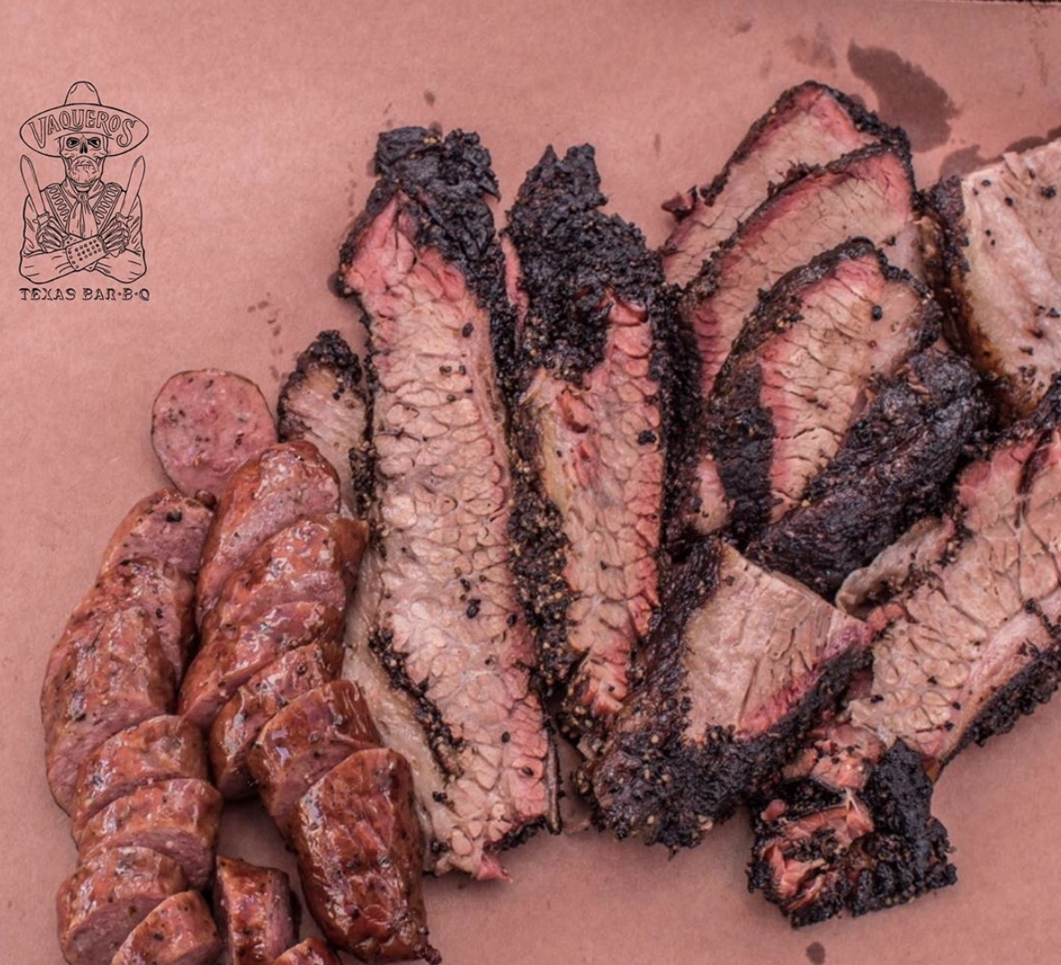Sausage and Brisket from   Vaqueros Texas BBQ   - Dallas/Fort Worth