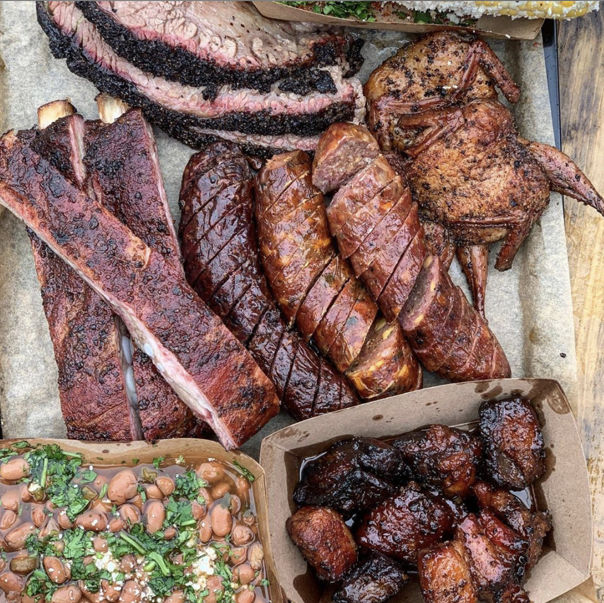 Platter from    Hurtado Barbecue    - Arlington, Texas