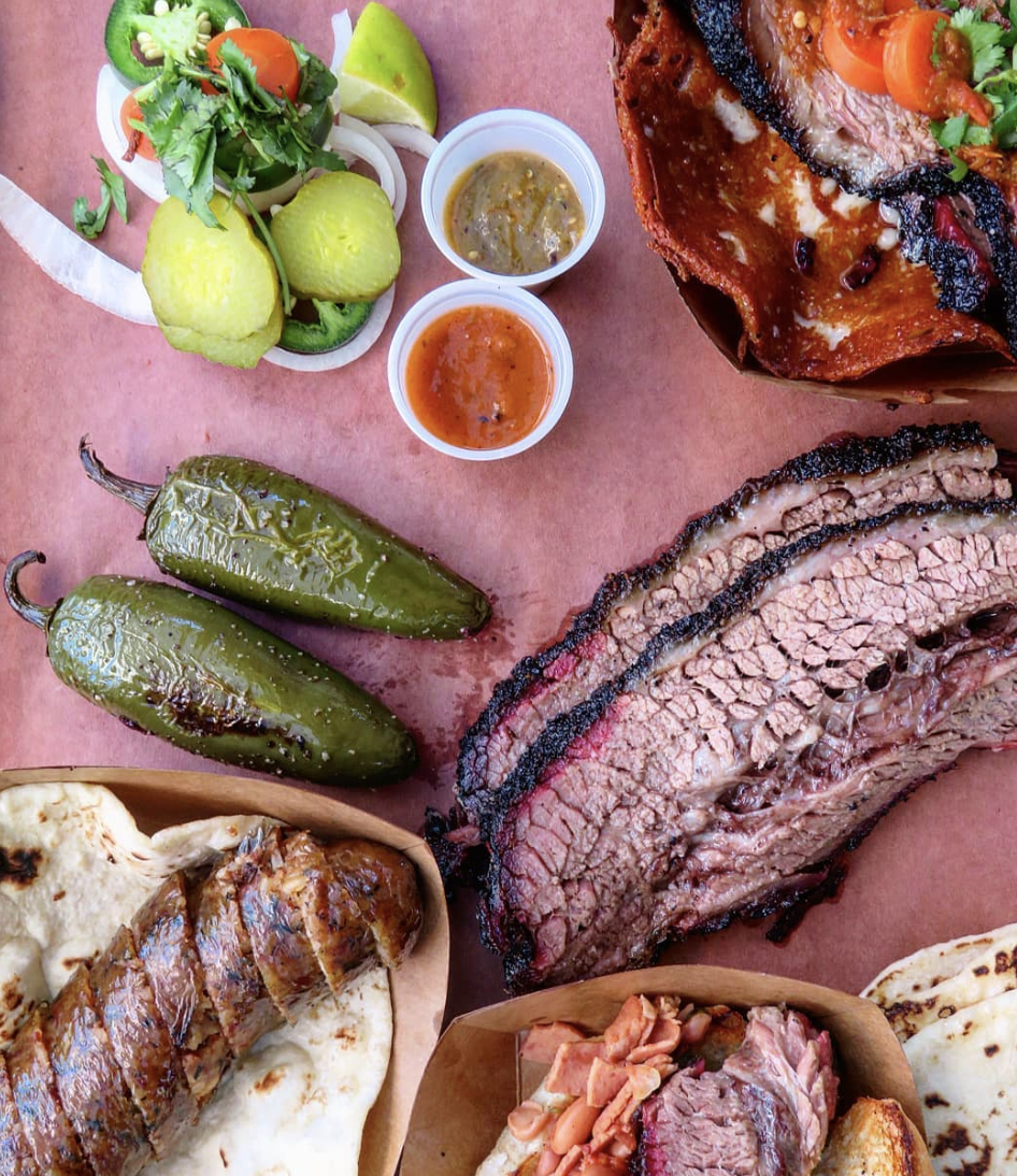 Variety of amazing barbecue items from   Eddie O's Texas Barbecue   - Houston