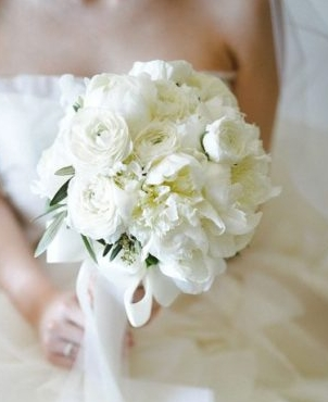 White Bouquet Bridal Flowers Hawaii