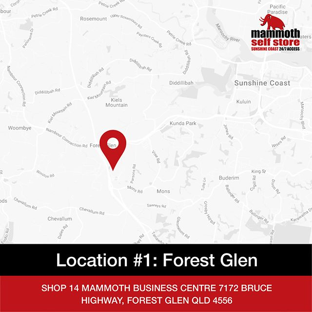 Your home is living space, not storage space. 📦📍 With two convenient locations on the Sunshine Coast, in Forest Glen (just off the Bruce Highway) and Maroochydore, storing your personal or commercial belongings has never been easier. ⠀ ⠀ 👉🏻Contact Mammoth Self Store today! 📞(07) 5445 8848.