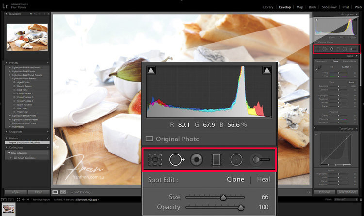 Lightroom version 6 interface