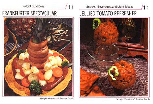 White balance tended to be very warm in 70s food images. Source: Weight watchers receipe cards
