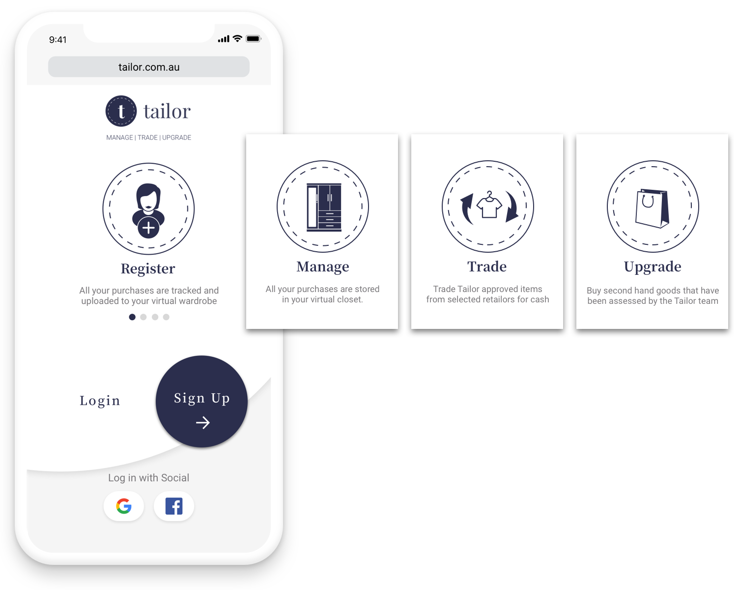 Users will come to an onboarding page which will explain all the benefits of Tailor.