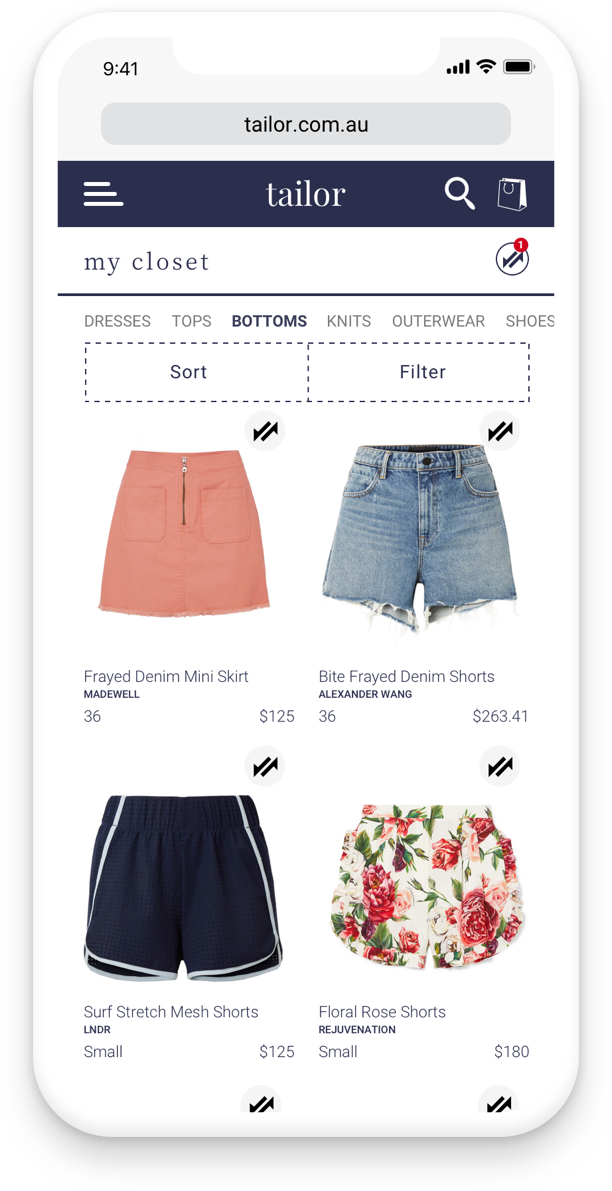 Track all your purchases in your virtual closet