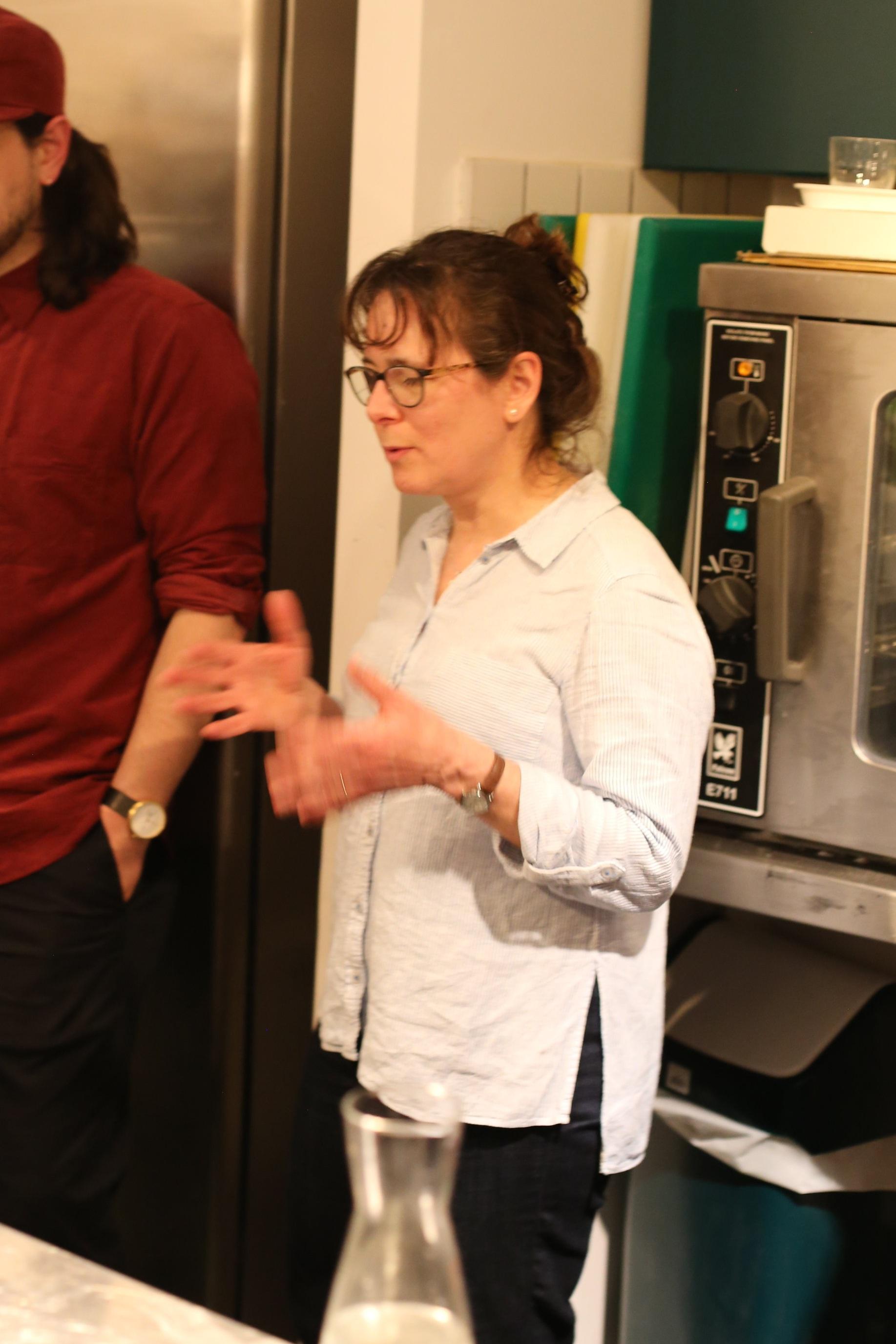 Rachel explaining what's what