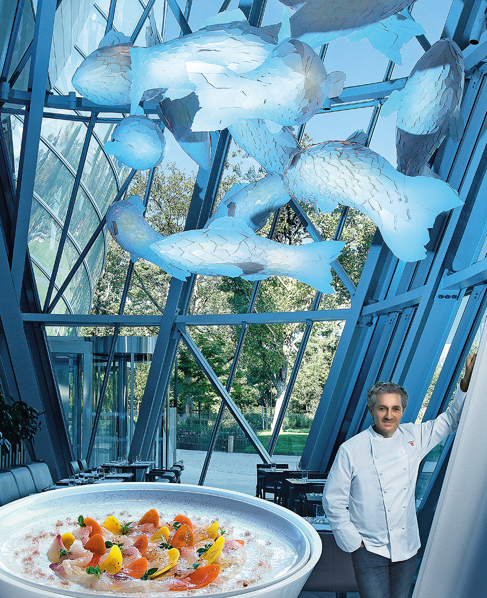 Jean Louis Nomicos Chef du restaurant le Frank à la Fondation Louis Vuitton