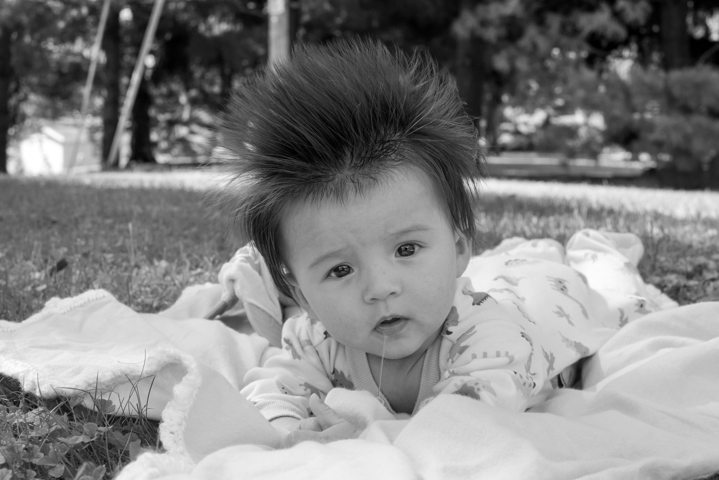 Okay, I really just put this one in here so you could check out his hair...wild, right? He was 3 1/2 months old here!
