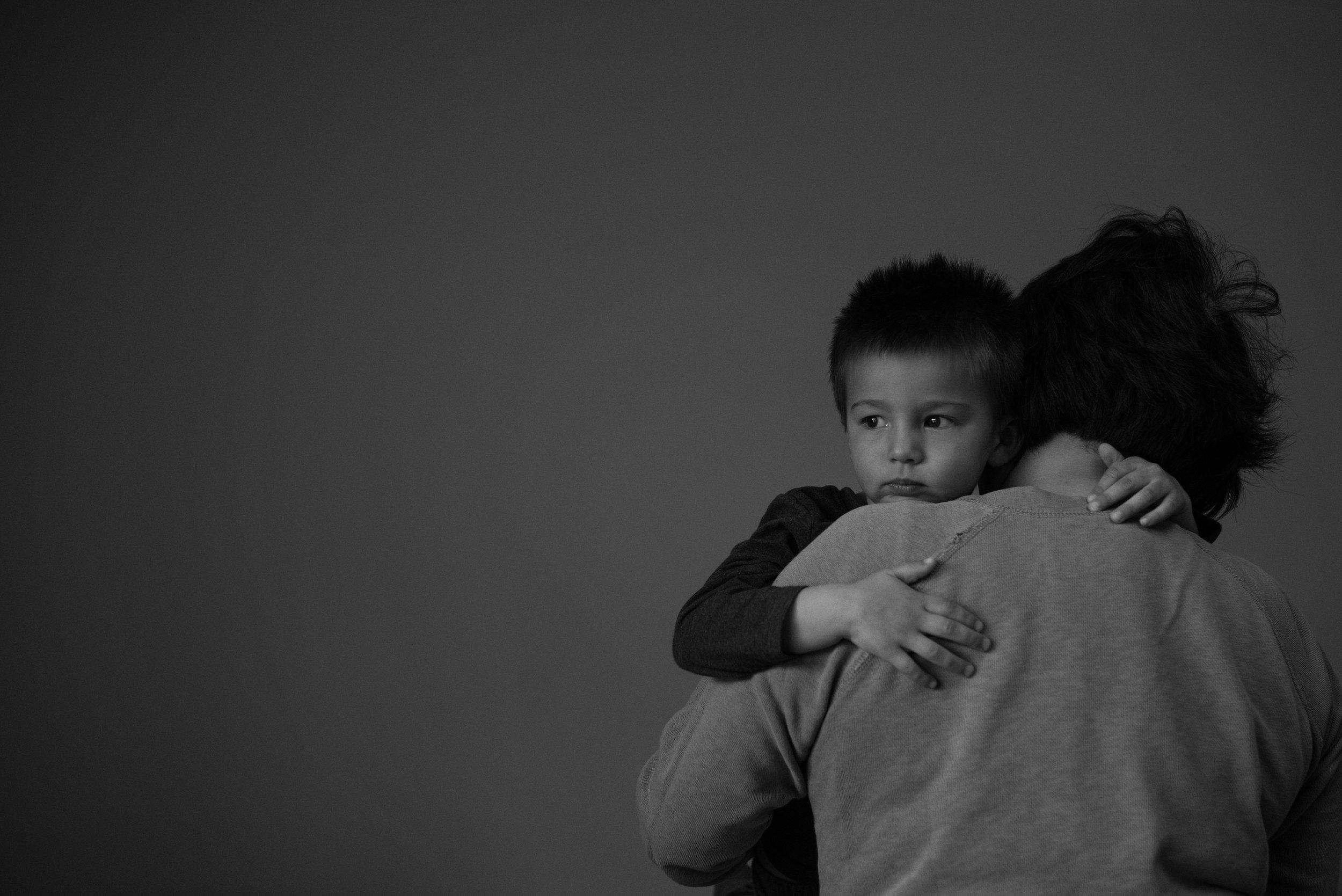 Kari Gierach Photography, Milwaukee Wisconsin documentary family photographer, Mukwonago Waukesha, brookfield family photography, toddler boy hugging grandma -1.jpg