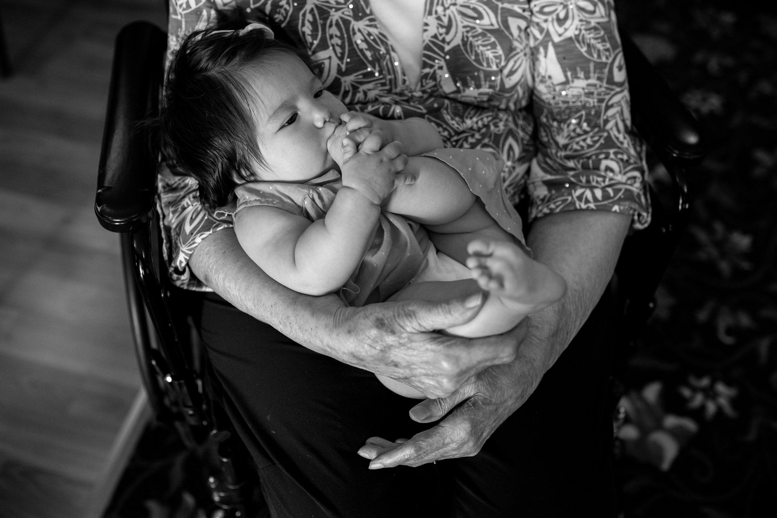 Kari Gierach Photography, Milwaukee Wisconsin documentary family photographer, Hales Corners family photography, baby girl and grandma, great grandma -1.jpg