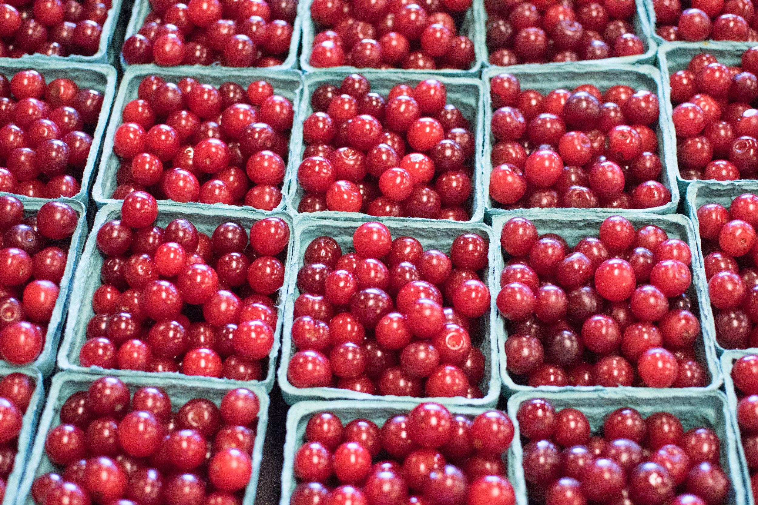 bright red door county cherries