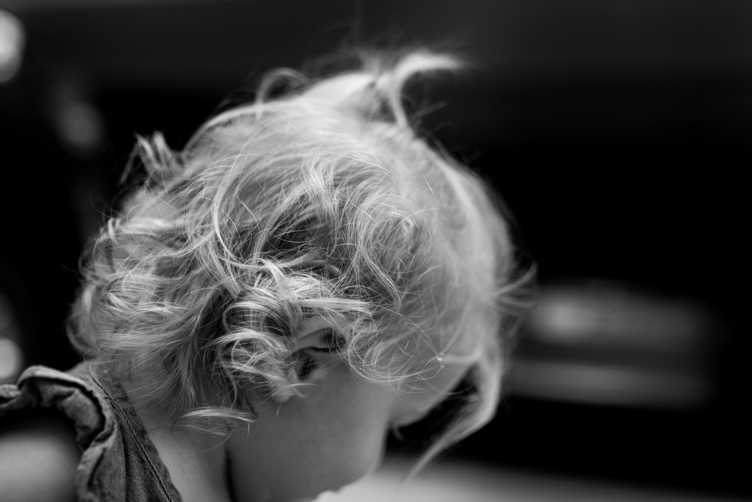 Toddler girls curly blonde hair