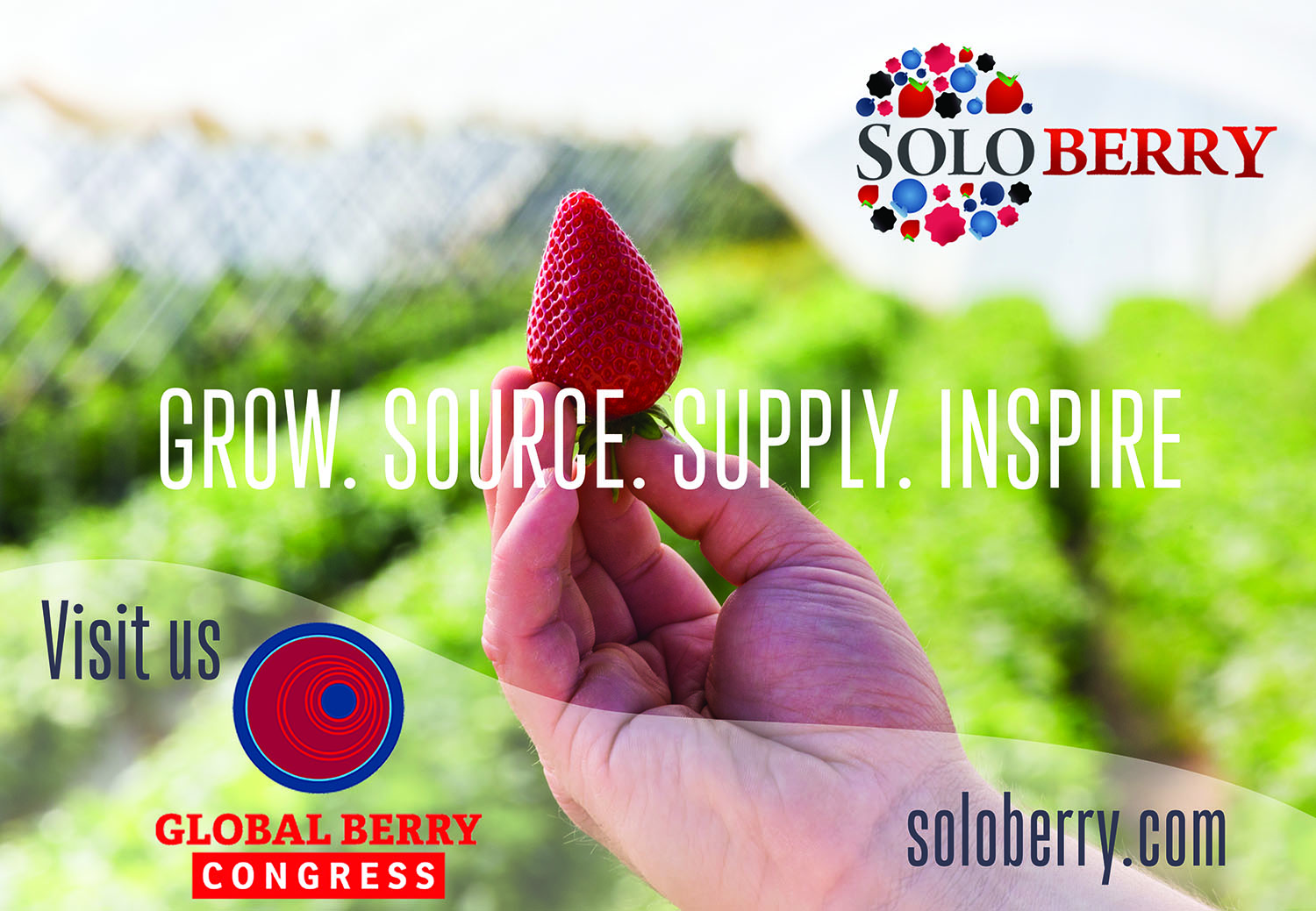 The Soloberry team will, for the first time, be exhibiting at Global Berry Congress 2018.
