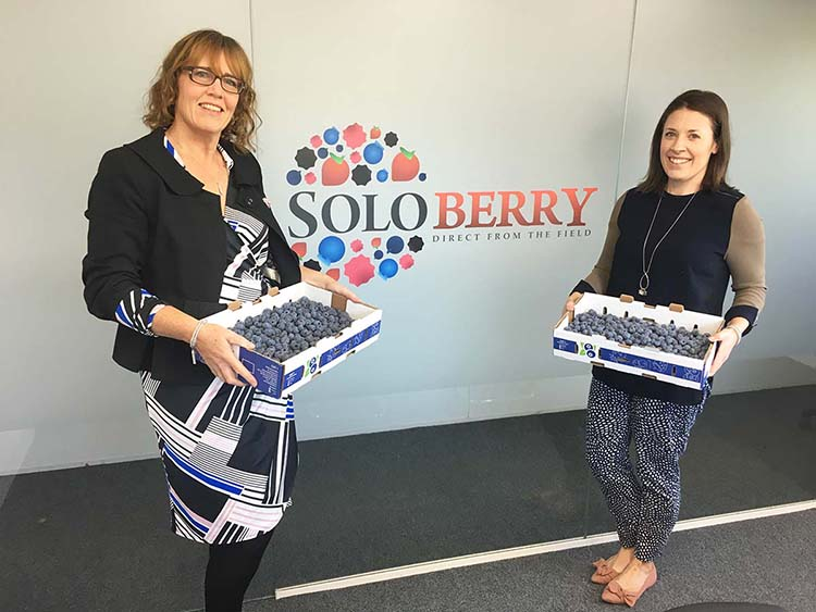 Nicola Wood from Kent Association for the Blind and Rachel Montague-Ebbs from Soloberry
