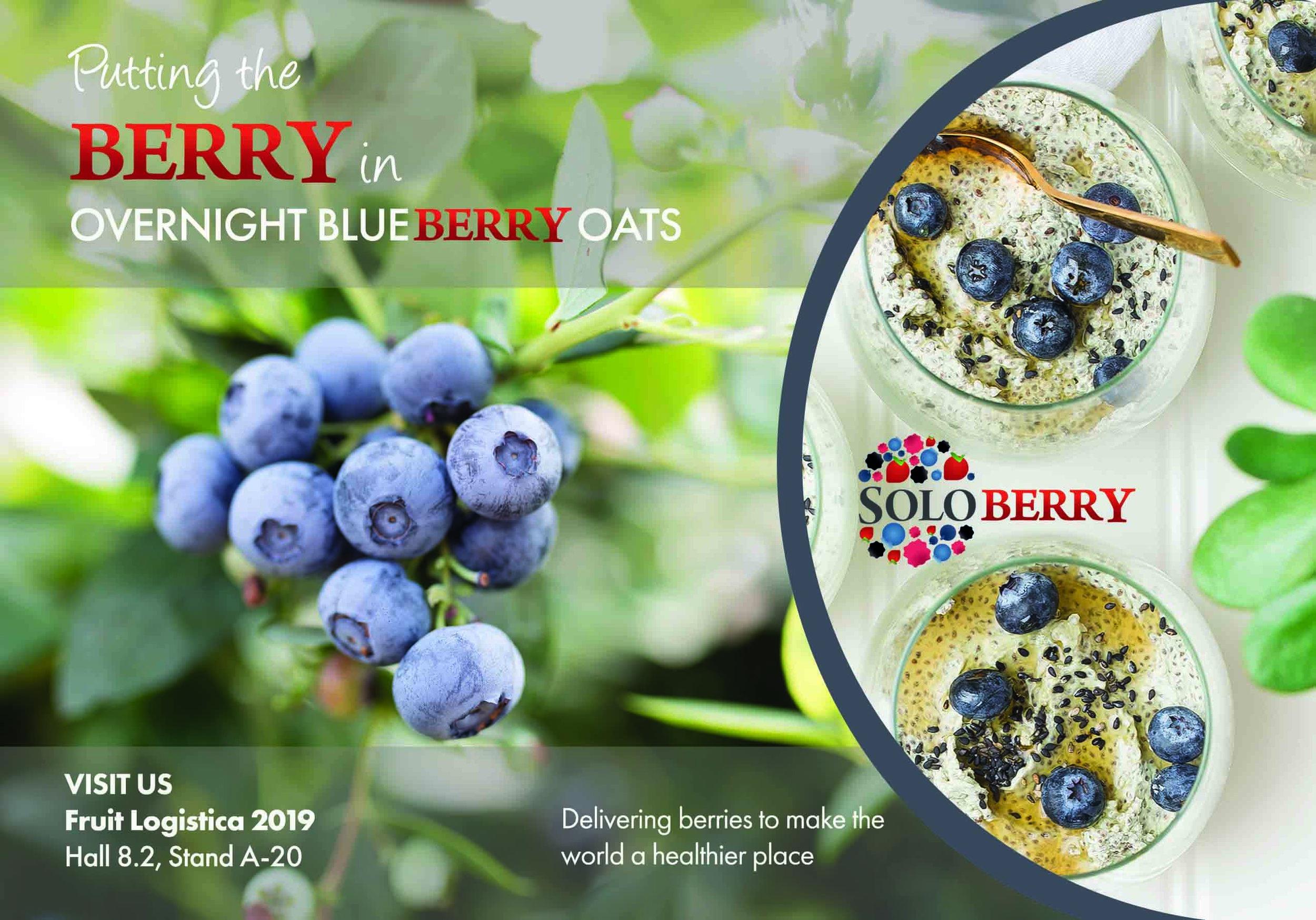 Soloberry asistirá a Fruit Logística 2019 este febrero en Berlín.