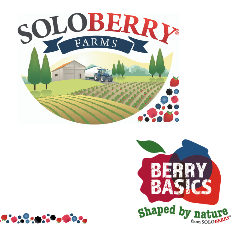 The brands from Soloberry; Soloberry Farms and Berry Basics