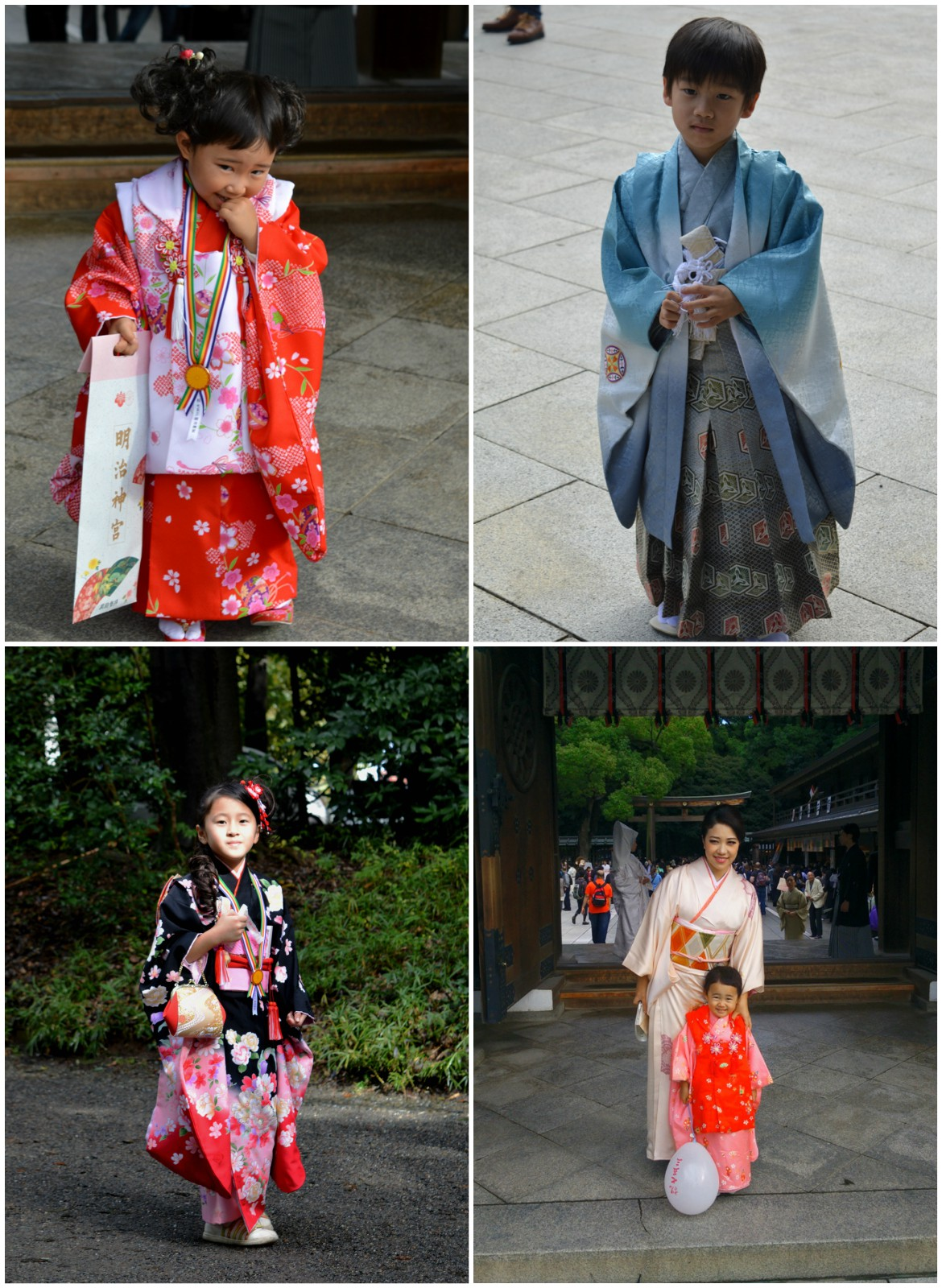 Japanese wedding - children in traditional costumes