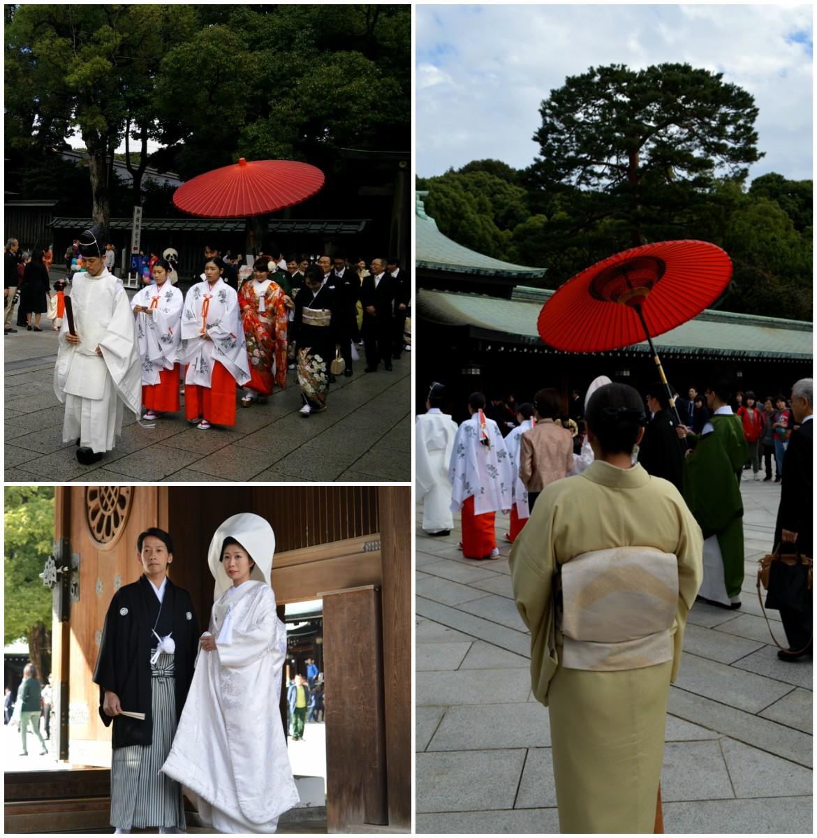 Japanese wedding - the bride and groom