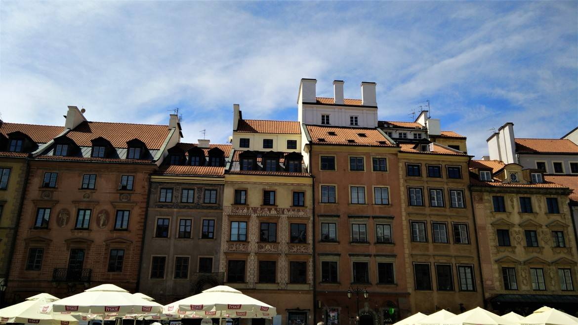 Old Town Market Square's picturesque buildings