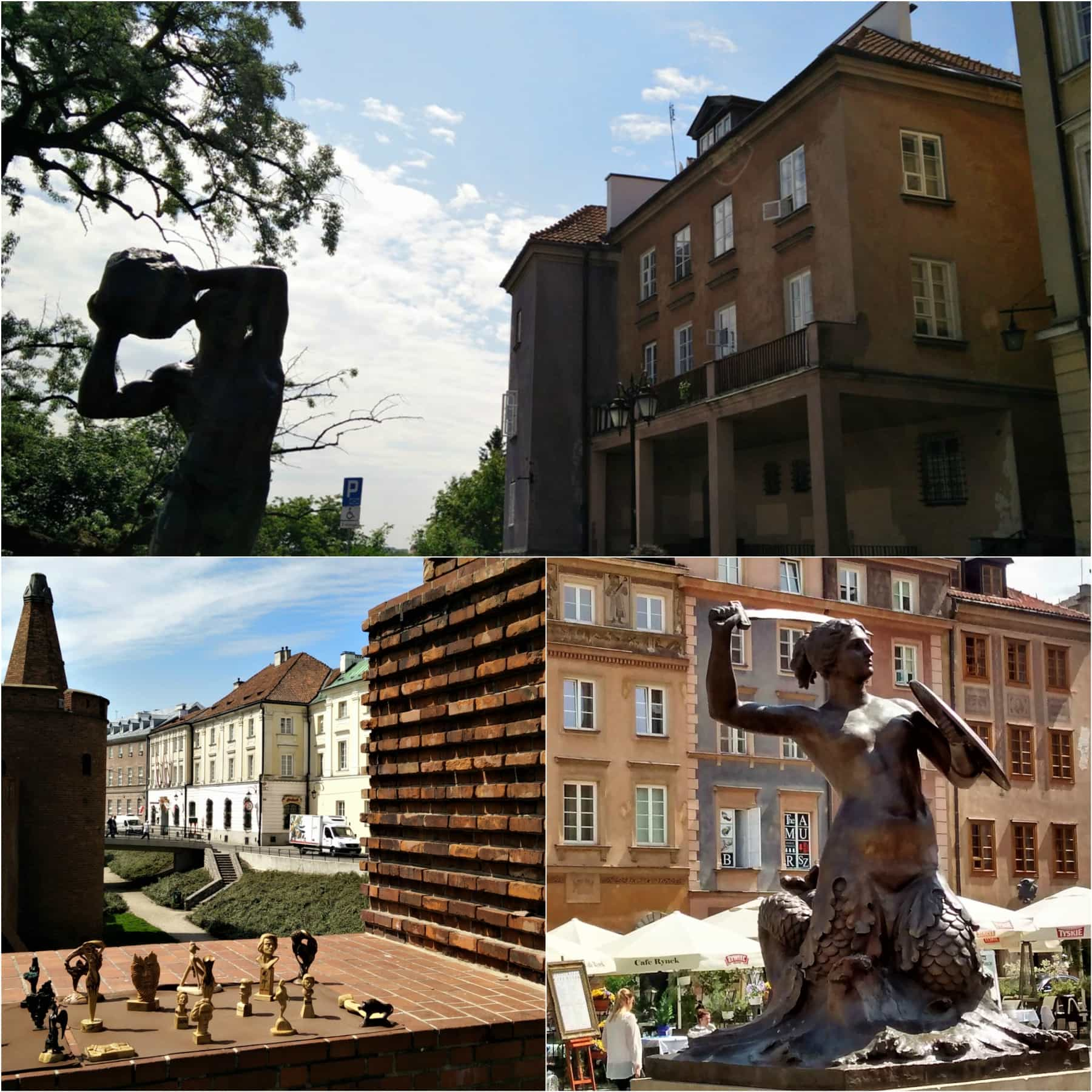 Sculptures in Warsaw's old town