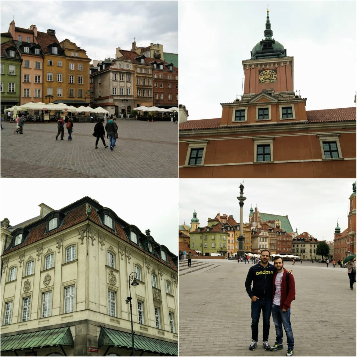 Exploring Castle Square in Warsaw's old town