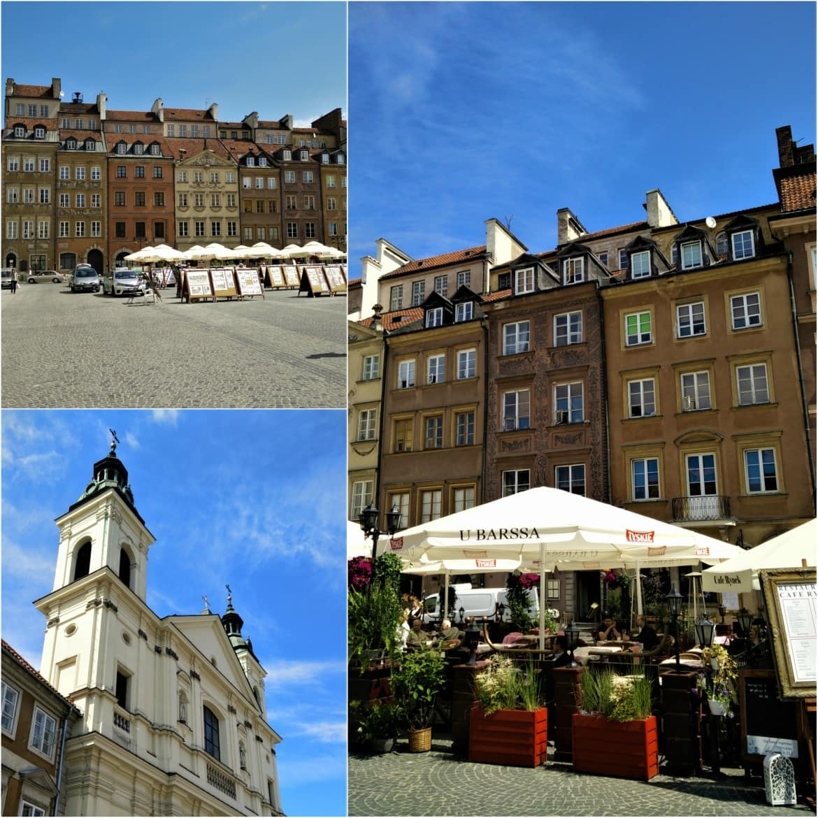 Beautiful architecture in Warsaw's old town