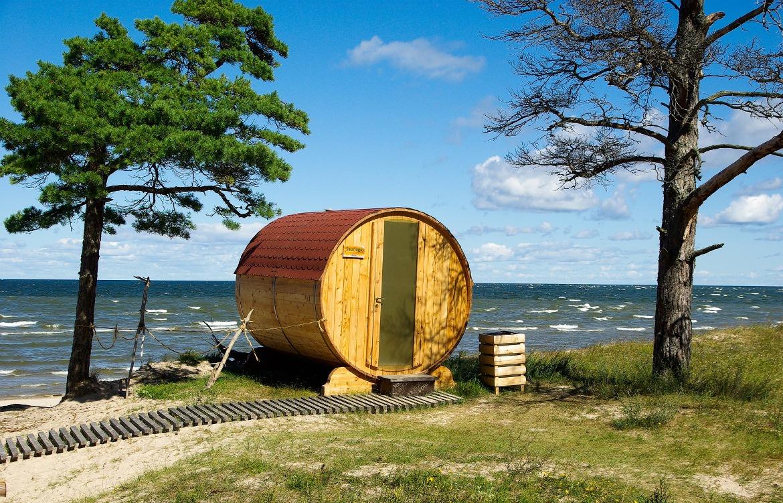 Latvian sauna in the wild