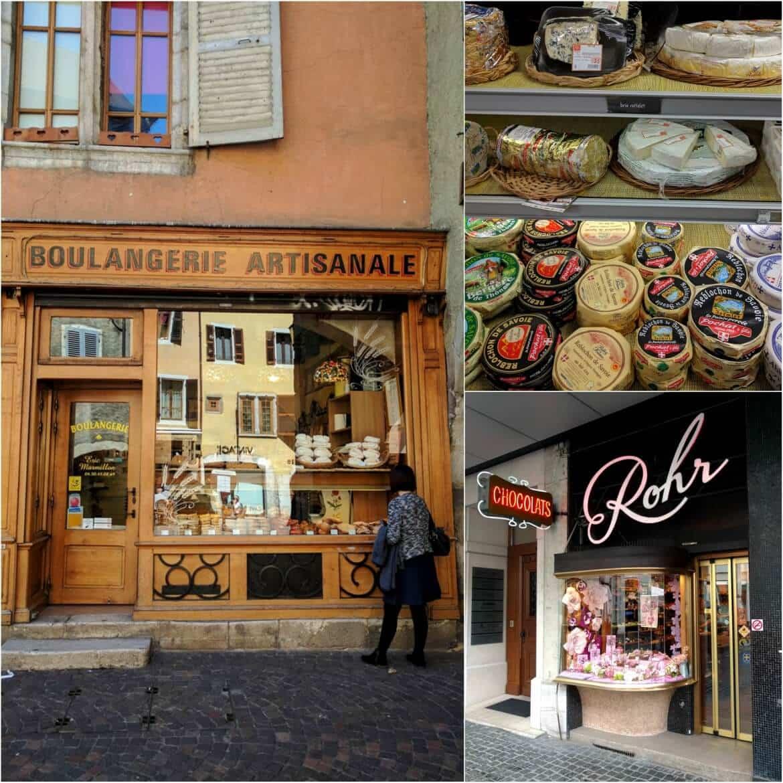 French and Swiss cuisine around lake Geneva