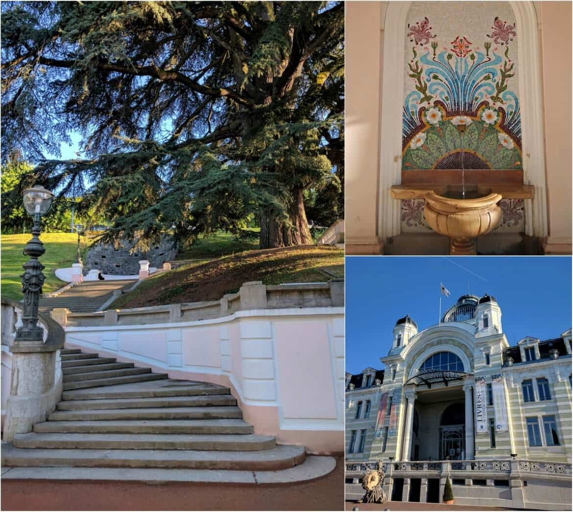 Evian-les bains and the famous source Cachat