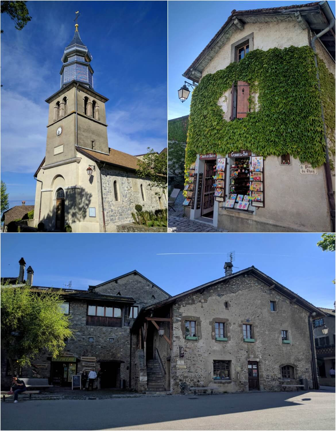 The village's church and other beautiful buildings
