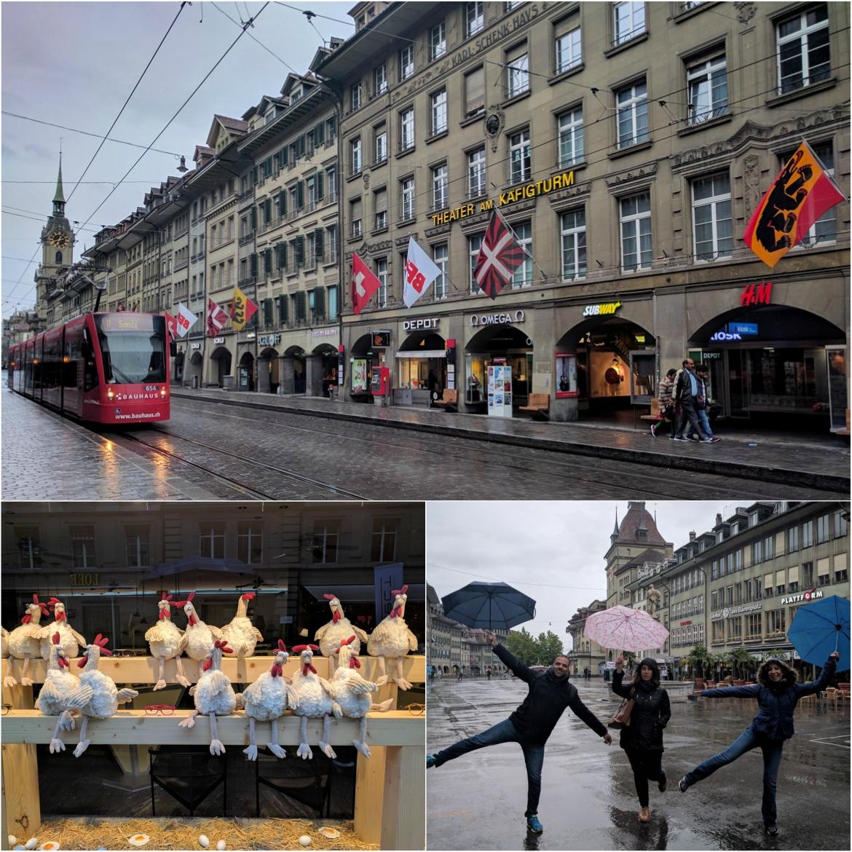 Strolling around Bern on a rainy day