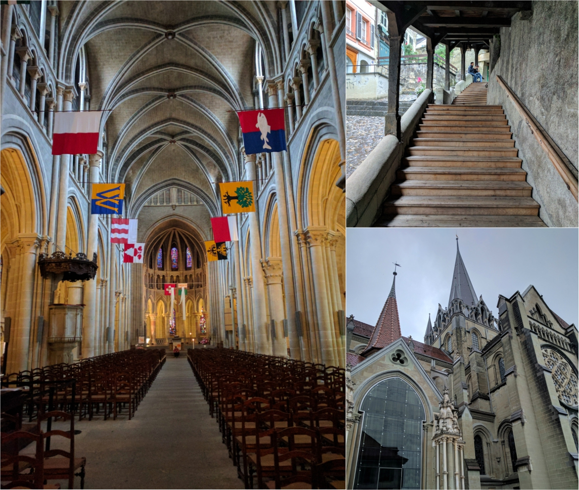 Inside Lausanne's Cathedral
